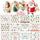 12� Christmas Thanksgiving Nail Art Stickers Snowflakes Cute Snowmen Nail Decals