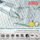 Mattress Cover Protector Fitted Sheet Bed Waterproof Topper Three Sizes Soft  BR image