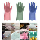 2 in 1 Silicone Rubber Dish Washing Gloves Eco-Friendly Scrubber Cleaning Sponge