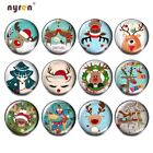 12pcs Glass Snap Button 18mm Snap Charms Multi Pattern Button DIY Snap Jewelry