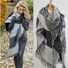 NEW Women Long Cashmere Winter Wool Blend Soft Warm Scarf Wrap Shawl Plaid Scarf