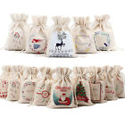 Внешний вид - Christmas Gift Storage Bag Canvas Drawstring Candy Toy Pouches Xmas Decoration