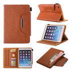 For Ipad Air Mini 1234 Pro 2 9.7 Flip Leather Wallet Hardware Buckle Case Cover