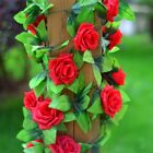 2.5m Silk Artificial Rose Flower Fake Artificial Ivy Vine Hanging Garland home W