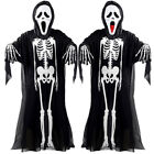 Scary Skeleton Kostüm Kostüm Maske Handschuhe Skelett Karneval Cosplay Party DE