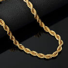"""Italian Made 4mm 14k Gold Rope Chain 20"""" 24"""" 30""""inch  image"""