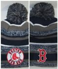 Boston Red Sox New Era Pom Pom Beanie ~Knit Cap ~Classic MLB Patch/Logo ~NEW