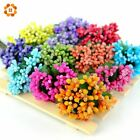 12pcs/lot Mini artificial Stamen Bud Bouquet Leaf flower for home Garden wedding