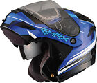 GMAX GM54S Terrain Black/Blue Modular Full Face Snowmobile Helmet w/ Sun Shield