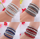 New Multilayer crystal Wrap bracelet Rhinestone deluxe bracelet Double wrap