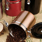 Kitchen Canister Set Food Storage For Coffee Tea Sugar Flour Stainless Steel