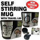 Funny Novelty Mug Auto Mixing Stir Self Stirring Coffee Tea Cup Birthday Gift