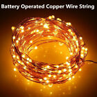 2M 20LEDs Button Battery Operated Mini LED Silver Wire String Fairy Lights Decor
