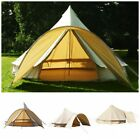 4 Season 5M Cotton Canvas Bell Tent +Front Awning+Rain Flying Glamping Luxury AU
