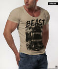 MEN'S T-SHIRT Rottweiler Dog Cool Fashion Short Sleeve Muscle Slim Fit Top MD010