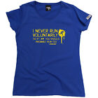 Running Tops T-Shirt Funny Novelty Womens tee TShirt - I Never Run Voluntarily