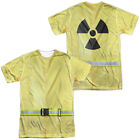 Hazmat Suit Halloween Costume T-shirt Front & Back