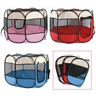 Pet Dog Cat Playpen Mesh Tent Portable Exercise Canvas Fence Kennel Cage Crate