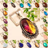 Christmas Gift !!! Free Shipping mix-stone 925 Silver Gemstone Jewelry Pendant