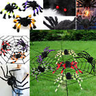 US Spider Halloween Decoration Haunted House Prop Indoor Outdoor Wide 30 75cm
