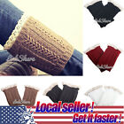 Внешний вид - US HOT Women Crochet Knitted Lace Trim Boot Cuffs Toppers Leg Warmers Winter sl
