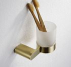Bathroom Accessory Tissue Holder Towel Ring Bar Soap Dish, Brushed Gold Brass