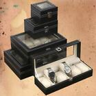 24/20/12/10 Grids Slots Jewelry Watch Display Case Box Storage Holder Organizer