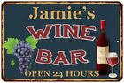 Jamie's Green Wine Bar Wall Décor Kitchen Gift Sign Metal 112180043202