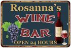 Rosanna's Green Wine Bar Wall Décor Kitchen Gift Sign Metal 112180043853