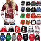 US Women Men Ugly Christmas Sweater Xmas Jumper Hoodie Sweatshirt Pullover Tops