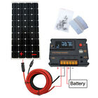 120W 100W Solar Panel System Kit for 12V Battery Power Charge&Controller Home RV
