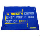 Gym Sweat Microfiber Sports Towel Jogging Funny Strength Comes When Youve Run Ou