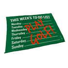 Golf Microfiber Sports Towel Funny Novelty Sweat Rag This Weeks To Do List Play