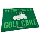 Golf Microfiber Sports Towel Funny Novelty Sweat Rag My Other Car Is A Golf Cart