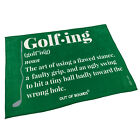 Golf Microfiber Sports Towel Funny Novelty Sweat Rag - Golf Noun