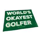 Golf Microfiber Sports Towel Funny Novelty Sweat Rag - Worlds Okayest Golfer