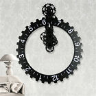 Useful Home Office Retro Modern Large Wall Art Gear Clock Vintage Decor Silver Q