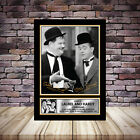 Laurel and Hardy Comedians Signed Framed Poster Autographed Print - A1 A2 A3 A4