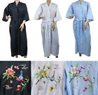 Внешний вид - Traditional Chinese Embroidered Bird on Tree Floral Kimono Robe Top Size S-L New