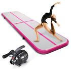 3M/4M Inflatable Air Track Tumbling Gymnastic Mat Floor Yoga Training Mat W/Pump