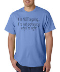 Unique T-shirt Gildan I'm Not Arguing With You Just Explaining Why I'm Right