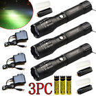 Garberiel Tactical 50000Lm T6 Zoomable LED Rechargeable 18650 Flashlight Torch @