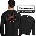 Vintage Dodge Hemi T Shirt Long Sleeve Parts Service Sign Chrysler Fire Power