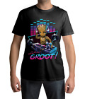DJ BABY GROOT GUARDIANS OF THE GALAXY 2 T-SHIRT LARGE FULL COLOUR DESIGN S-5XL