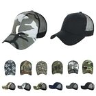 Plain Baseball Cap CAMO Military Caps Tactical Mesh Trucker Snapback Army Hats