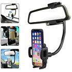 Auto Car Rearview Mirror Mount Stand Holder Cradle For Cell Phone GPS Universal