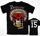 THE KANSAS CITY SKULL  JERSEY STYLE T-SHIRTS CHIEFS  MAHOMES, HUNT, KELCE