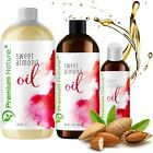 Sweet Almond Oil 100 Natural Pure for Hair Skin Cleansing Detoxifying VARIATION