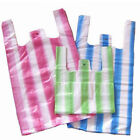 "HD Striped Vest Carrier Bags Supermarket Style EAGLE Large 11""x17""x21"