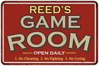 REEDS Game Room Personalized Sign Vintage Look Metal Wall 108120001373